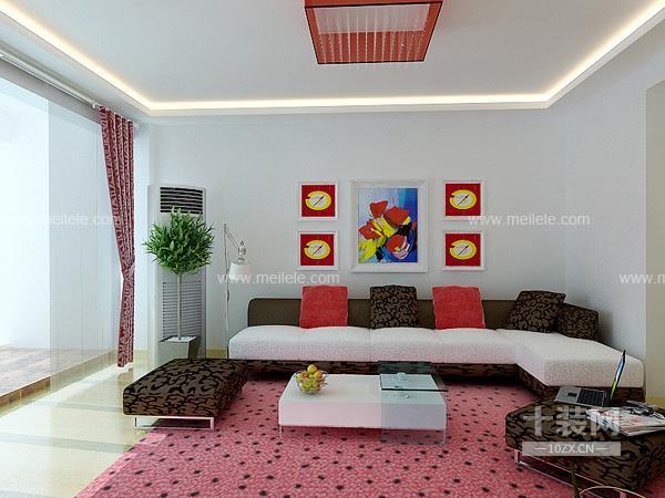 十堰100平米现代简约风格创意之居装修效果图欣赏2