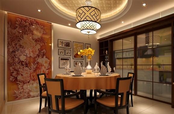 新中式别墅一楼客厅装修效果图