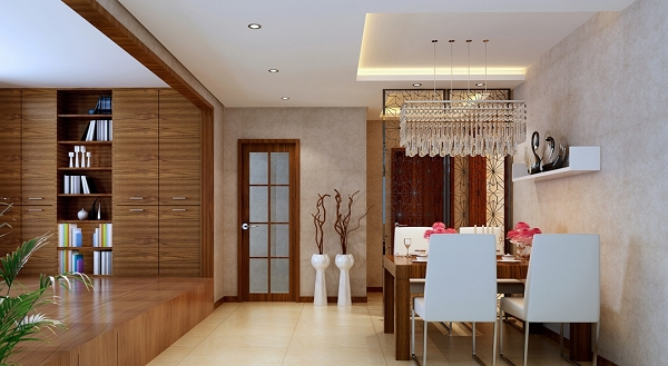 2013新中式餐厅装修设计效果图